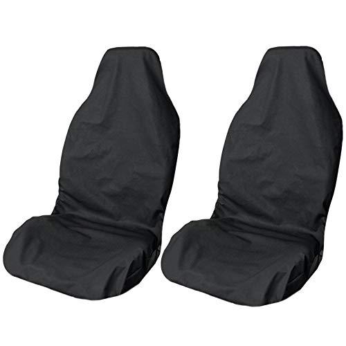 LIONSTRONG Sitzschoner für Autositze, Sitzbezug Werkstatt Auto, universal Autositzschoner, Sitzbezüge, wasserdichter Stoff (Polyester Doppelpack)