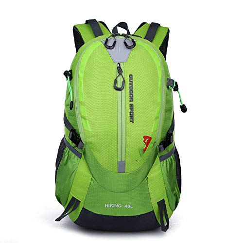 Topashe Ergonómica para Viajes Excursiones Acampadas Trekking,Impermeable Mochila de Marcha Trekking,Bolsa de Viaje con Estante, Bolsa de montañismo Exterior de Gran Capacidad-Verde