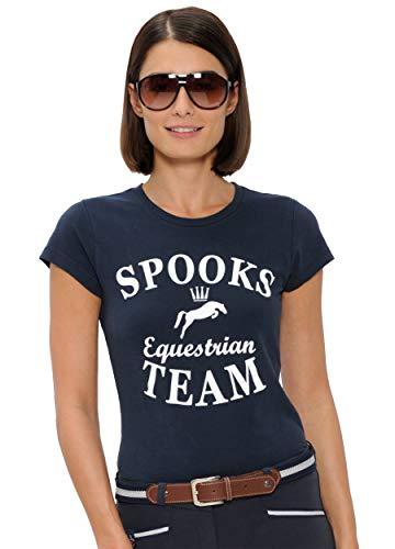 SPOOKS T Shirt für Damen Mädchen Kinder, tailliert Sommer Tshirt mit Aufdruck aus Frotee - bequem & stylisch Team - Navy M
