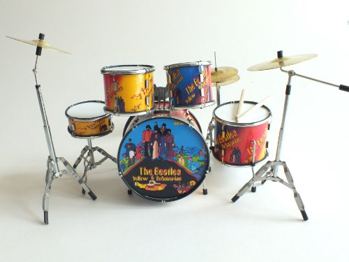 RGM356 Beatles Yellow submarine kit de batería en miniatura