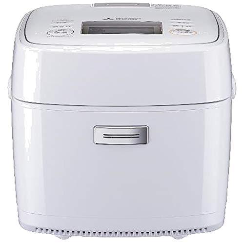 三菱 IHジャー炊飯器(3.5合炊き) 月白MITSUBISHI 備長炭 炭炊釜 NJ-SEB06-W