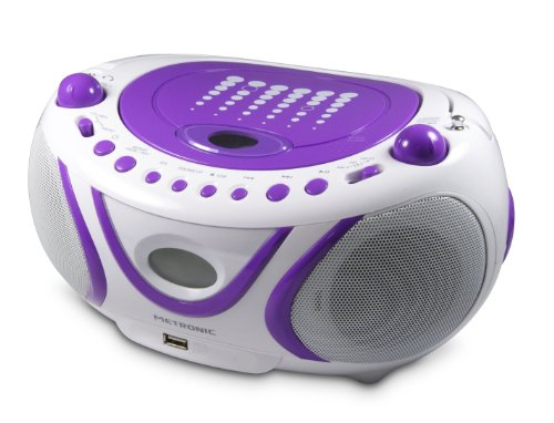Metronic 477112 MP3-Radio Boombox CD Player USB Lila