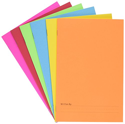 Hygloss Products-77006 Paperback Blank Story Books for Children - Write & Illustrate Stories - Great Activity for Classroom, Home & More - 6 Vibrant Colors - 5.5' x 8.5', Pack of 6, Assorted Colors