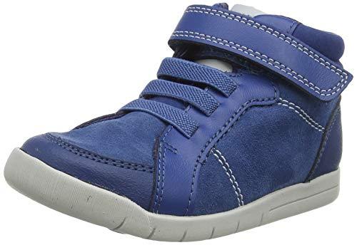 Clarks Mädchen Emery Beat T Hohe Sneaker, Blau (Blue Suede Blue Suede), 20 EU