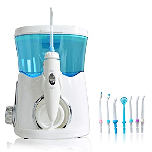 Jonly Professionelle Munddusche, tragbare wiederaufladbare 600-ml-Power-Zahnseide, IPX1-wasserdicht, mit Munddusche mit 5 Druckeinstellungen