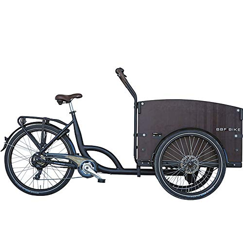 BBF Seattle ECO Lastenfahrrad E-Bike Cargo Bike 26/24 Zoll 7 Gang Lastenrad E-Cargo Fahrrad 26/24' (schwarz, 53 cm)