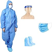 GOHNA Personal Protective Equipment Kit - PPE Kit/Disposable Full Dress (Blue) Product