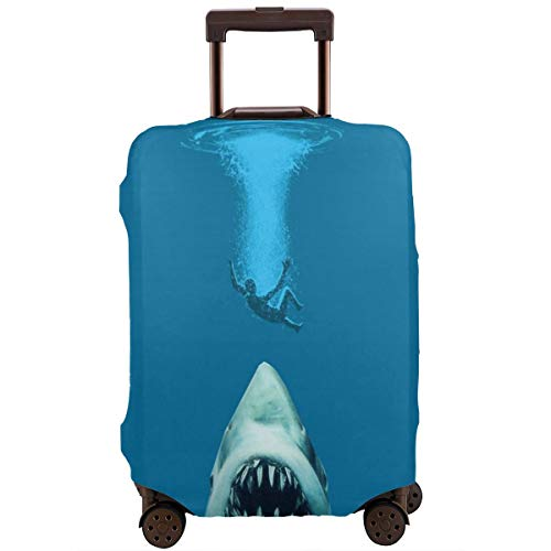 Nicokee Travel Luggage Cover Special Shark Jaws Pattern Suitcase Protector Baggage Suitcase Cover Fits 18-32 Inch Luggage