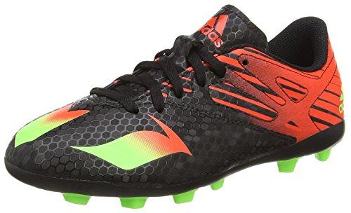 adidas Herren Messi 15.4 FxG Fußballschuhe, Schwarz (Core Black/Solar Green/Solar Red), 42 2/3 EU