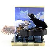 JIANAND Angel's Heartbeat Ichiban Kyou Q Versión Tachibana Kanade Piano Set Figura Anime Modelo De Personaje Muñeca Linda Decoración Juguetes Navidad Niños Regalos H2.76 Pulgadas