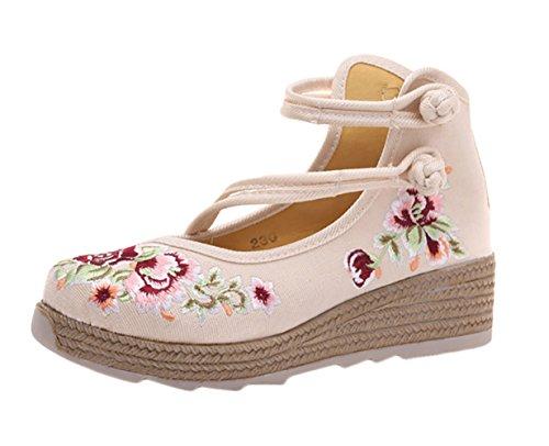 Insun Zapato Bailarinas con Correa Plataforma Hebilla Estilo Mary Jane