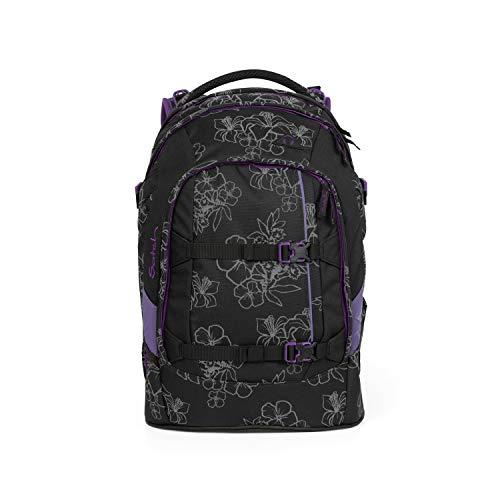 Satch pack Schulrucksack - ergonomisch, 30 Liter, Organisationstalent - Ninja Hibiscus - Black
