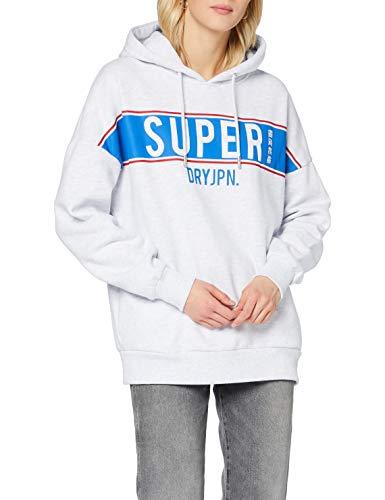 Superdry Womens SDRY Panel Hood Hooded Sweatshirt, Ice Marl, S (Herstellergröße:10)