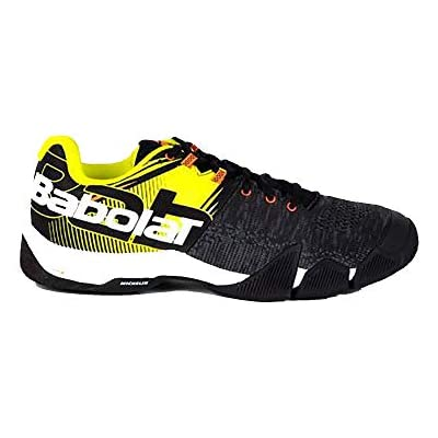 BABOLAT MOVEA Men, Zapatillas de Tenis Hombre, Black/Fluo Yellow, 43 EU