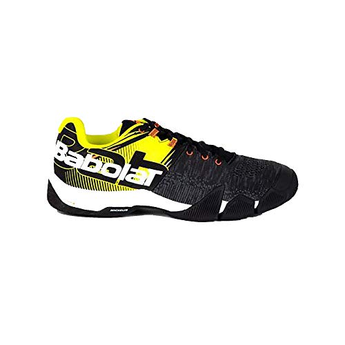 BABOLAT MOVEA Men, Zapatillas de Tenis Hombre, Black/Fluo Yellow, 42.5 EU