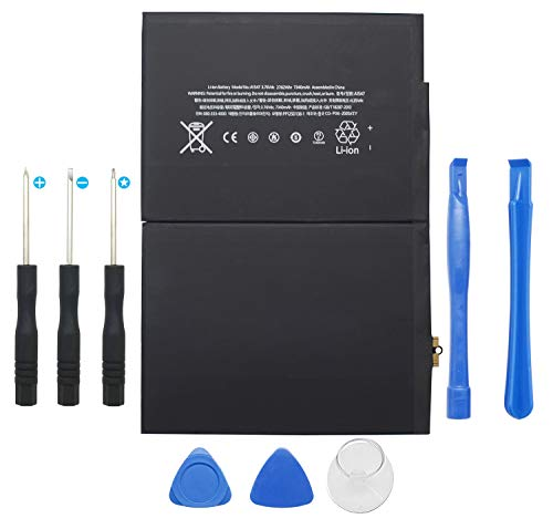 DDS-DUDES Internal 7340mAh Replacement Battery Compatible with iPad 6 / iPad Air 2 A1566 A1567 A1547 + Repair Tools