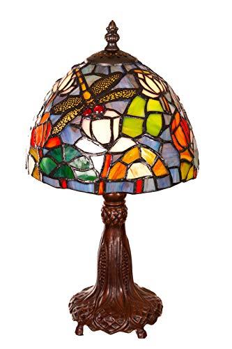Tiffany Tiffany 146 - Lámpara de mesa (8 pulgadas), diseño de libélula