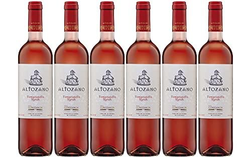 Altozano Tempranillo Syrah Rosado - Vino V.T. Castilla - 6 botellas de 750 ml - Total: 4500 ml