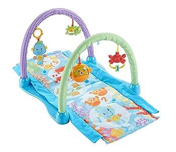 Fisher-Price - Gimnasio musical juega y gatea, para bebé +0 meses (Mattel DRD92)