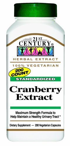 21st Century Standardized Cranberry Extract Capsules 200ct - 2 Pack (2)