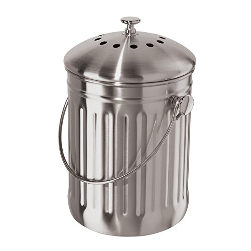 Oggi Compost Pail, Stainless Steel