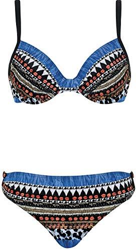Sunflair Damen Bikini-Set Precious Dark (926 schwarz-blau, 42C)