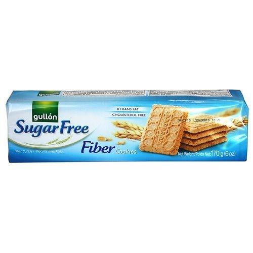 Gullon SF Fiber Cookies 6 Ounce, 170 Gram, Pack of 5