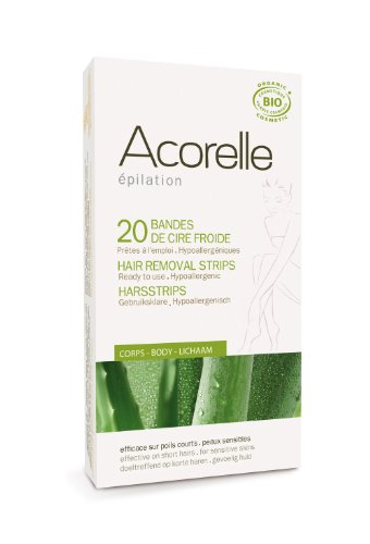 Acorelle Body Hair Ready To Use Strips Aloe Vera & Beeswax 20 Strips