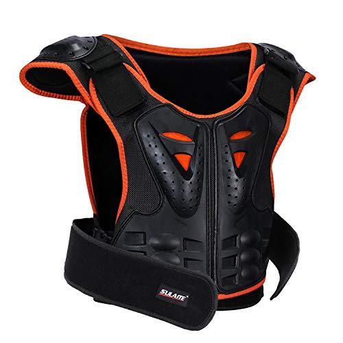 GuTe Kids Bike Chest Protector, Sport Motocross Skiing Armor Vest Spine Protective Gear