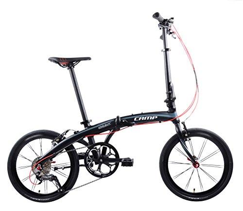"CAMP Lightweight Folding Bike 25lb 20"" Alloy 9 Speed Orbit"