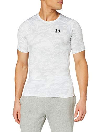 Under Armour Heatgear Armour Camo Compression Camiseta, Blanco/Negro (100), M para Hombre