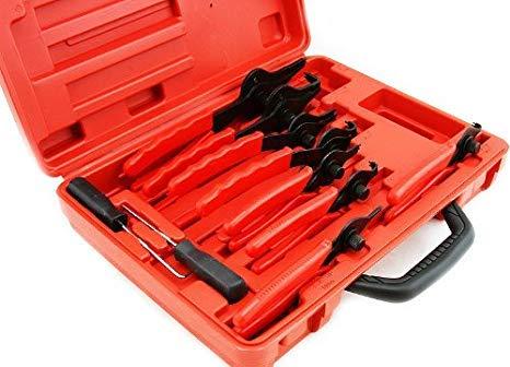(Best tools) 11pc Snap Ring Plier Set Mechanics Circlips Auto Tool Internal External Pliers