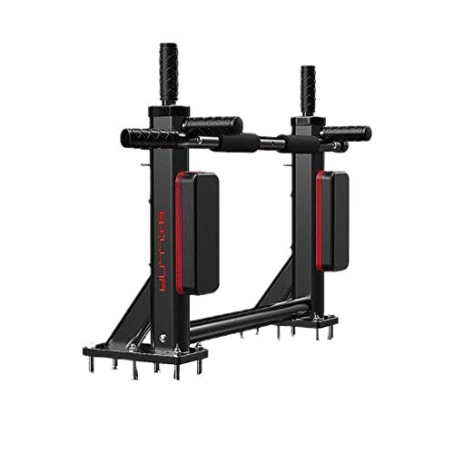 PUFITNESS Inicio Pull-ups Pared Interior Barra Horizontal Pared Barras paralelas Sacos de Arena Estante Equipo Deportivo for Ejercicios Barras paralelas Multiestaciones (Color : Negro)