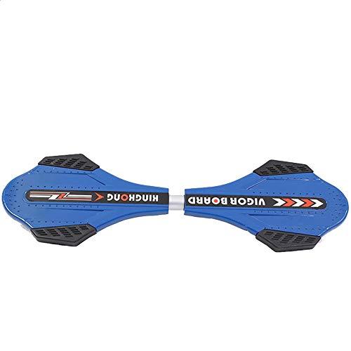 Erwachsene Kinder Skateboard Kinder Scooter Adult zweirädrigen Snake Brett Vigor Brett Drache Brett Skateboard Tragbare Caster Waveboard für Anfänger und Profis ( Farbe : Blue , Size : Free size )