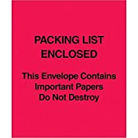 Top Pack Supply Tape LogicPacking List Enclosed This Envelope Contains… (Paper Face) 5 x 6 Red (Pack of 1000) [並行輸入品]