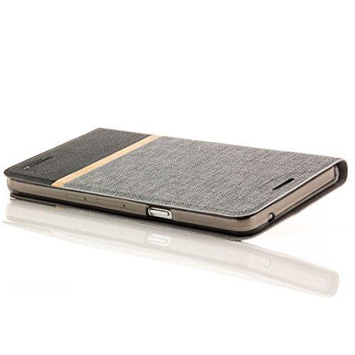 Zanasta Designs Custodia Sony Xperia Z5 Premium Cover Flip Wallet Case Copertura con Portafoglio Alta qualità Grigio
