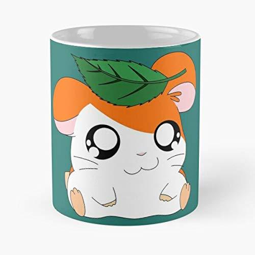 5TheWay Cartoon Hams Anime Leaf Hamtaro Hamster Ham Adorable - Best 11 oz Kaffeebecher - Nespresso Tassen Kaffee Motive