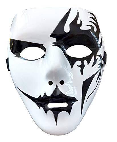Mscara Pierrot  Hip Hop  Street Dance  Jabbawockeez  Fantasma  Carnaval  Halloween  Kiss  Joker  Blanca  Disfraz  Hombre  Mujer  Idea regalo Navidad cumpleaos  Modelo 2