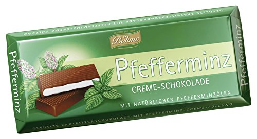 Böhme Pfefferminz Creme-Schokolade, 10er Pack (10 x 100 g)