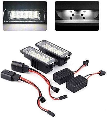 YongYeYaoBEN EGCPDS 2 stks 6000 K 12 V 3 W Auto Nummer Kentekenplaat Licht Exterieur Accessoires Signaal Lamp Voor VW Golf 4 5 6 7 Polo 6R Passat