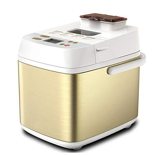 Máquina de Pan Digital de 500 W/Horno de máquina de Pan de Acero Inoxidable de Trigo Integral sin Gluten, Juego de 19 menús, Hora de Cita, traducción al inglés