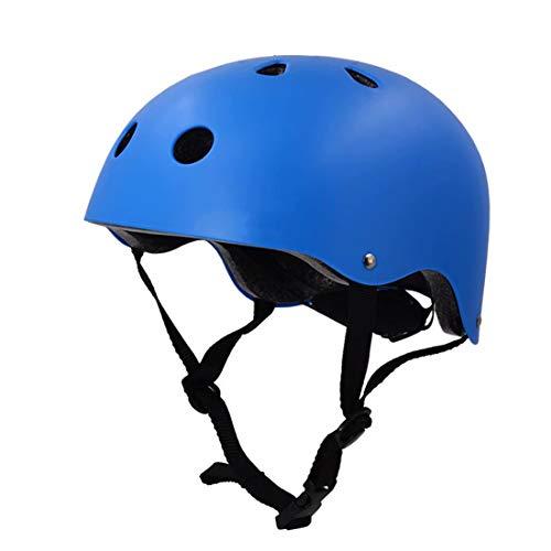Doyeemei Fahrrad Fahrrad Skateboard Roller Hoverboard Reiten Leicht verstellbar Atmungsaktiv Fahrrad Sicherheit Crash Helm Erwachsene Kindergrößen Schutzhelm für Kinder , Frauen , Männer Blue
