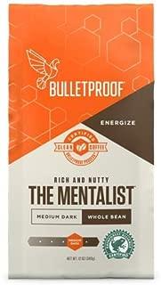 Bulletproof The Mentalist Whole Bean Coffee, Premium Gourmet Medium Dark Roast Organic Beans, Rainforest Alliance certified, Keto diet, Clean Upgraded coffee (12 Ounces)