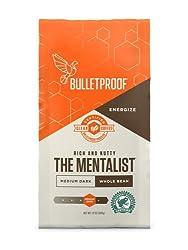 Bulletproof The Mentalist Whole Bean Coffee, Premium Gourmet Medium Dark Roast Organic Beans, Rainfo