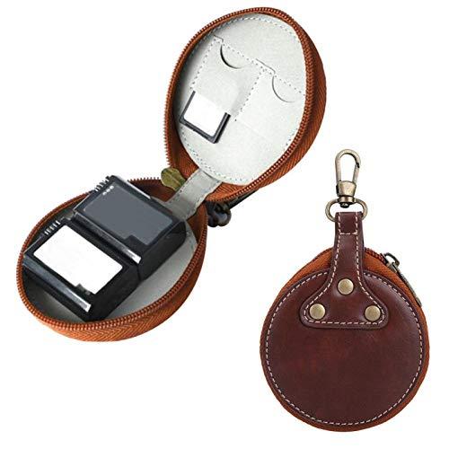 Gawu 3,15 x 3,54 x 0,79 Zoll Kamera-Akku-Aufbewahrungstasche Kleine Objektivabdeckungen.(Brown)