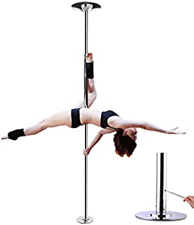AMPERSAND SHOPS Removable/Portable Dance Fitness Exercise Pole Static/Spinning Option