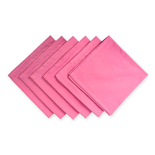 DII 100% Cotton Cloth Napkins, Oversized 20x20 Dinner Napkins, For Basic Everyday Use, Banquets, Weddings, Events, or Family Gatherings - Set of 6, Flamingo Pink