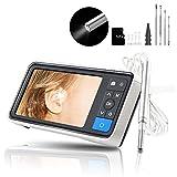 3.9mm Digital Otoscope Cam Pro Ear Cleaning Endoscope, 1280 HD USB Otoscope with 4.5 Inch Visual...