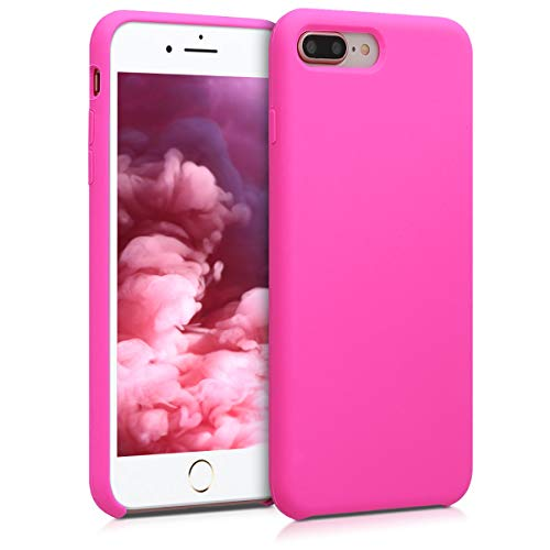 kwmobile Cover Compatibile con Apple iPhone 7 Plus / 8 Plus - Custodia in Silicone TPU - Back Case Protezione Cellulare Magenta