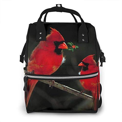 Kardinalen Vogels Fauna Wild Luiertas Mode Waterdichte Multi-Functie Reizen Rugzak Grote luiertassen Mummy Rugzak voor Baby Zorg